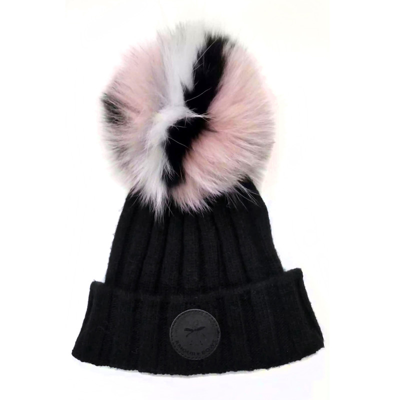 Game face Fur hat Black / Pink Fur