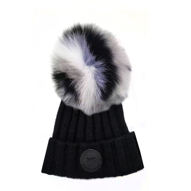 Game face Fur hat Black / Lavender  Fur