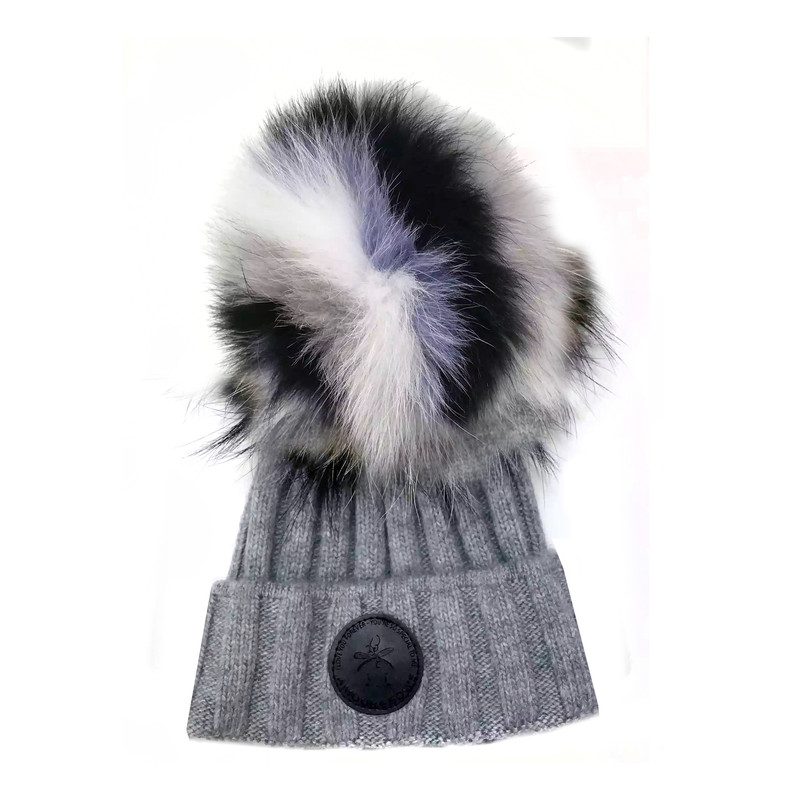 Game face Fur hat Grey / Lavender  Fur