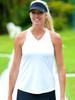 JoFit Ladies & Plus Size Betsy Sleeveless Tennis Tank Tops - Napa (White)