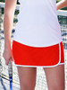 CLEARANCE JoFit Ladies & Plus Size Wrap Panel Tennis Skorts - Cosmopolitan (Lipstick)