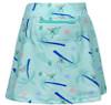 Turtles & Tees Junior Girls Tara Knit Pull On Tennis Skorts - Monkey Love Print