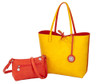 Sydney Love Ladies Reversible Tote Bag with Inner Pouch - Orange & Yellow