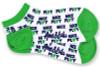Ame & Lulu Ladies Meet You Match Socks - Green White Nice Play