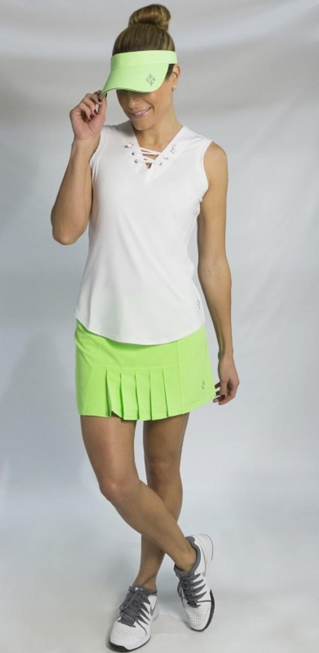 Jofit Ladies Plus Size Tennis Outfits Tanks Skorts Mai Tai