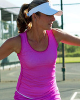 SALE JoFit Ladies Net Worth Tennis Tank Tops - Lanai (Jo Pink)