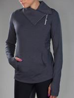 JoFit Ladies & Plus Size Tennis Jumper Jackets - Tequila Sunrise (Heather Charcoal)