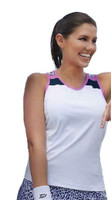CLEARANCE Tail Ladies Tennis Racerback Performance Jersey Tops – Rawr Power  (Leopard-White/Navy)