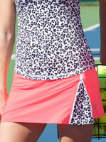 CLEARANCE JoFit Ladies & Plus Size Zippy Tennis Skorts - Tequila Sunrise (Coral Glow)