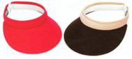 "Town Talk 3"" Ladies Visors with Comfort Clip - Assorted Colors"