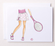 Bloom Designs Tennis Stationery - Pink Server