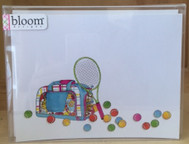Bloom Designs Tennis Stationery - Multi