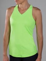 JoFit Ladies Jo Jacquard Betsy Sleeveless Tennis Tank Tops – Cosmopolitan/Kona (Neon Green)