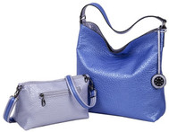 SALE Sydney Love Ladies Reversible Hobo Bag with Inner Pouch - Lavender and Blue