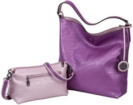 SALE Sydney Love Ladies Reversible Hobo Bag with Inner Pouch - Pink and Fuchsia