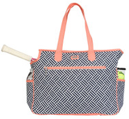 SALE Ame & Lulu Ladies Tennis Court Bags - Nantasket (Pink & Navy)