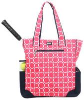 SALE Ame & Lulu Ladies Tennis Tote Bags - Cabana (Pink & Navy)