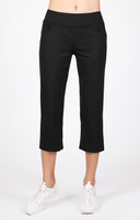 "Tail Ladies Eloise 22.5"" Inseam Comfort Knit Tennis Capris - ESSENTIALS (Black)"