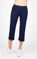 "Tail Ladies Eloise 22.5"" Inseam Comfort Knit Tennis Capris - ESSENTIALS (Navy Blue)"