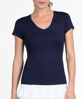 Tail Ladies Lacasi Short Sleeve Tennis Tops - ESSENTIALS (Navy Blue)