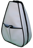 40 Love Courture Ladies Sophi Tennis Backpacks - White Faux Leather