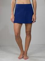 JoFit Ladies & Plus Size Swing Tennis Skorts - Chardonnay (Blue Depth)
