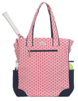 Ame & Lulu Ladies Emerson Tennis Tote Bags - Clover (Pink & Navy)