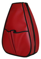 40 Love Courture Ladies Sophi Tennis Backpacks - Red Faux Leather