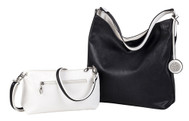 SALE Sydney Love Ladies Reversible Hobo Bag with Inner Pouch - White and Black
