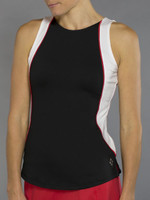SALE JoFit Ladies & Plus Size Ace Tennis Tank Tops - Barossa (Black and White)