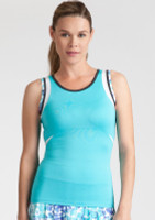 SALE Tail Ladies & Plus Size Emily Tennis Tank Tops - Glistening Tide (Curacao)