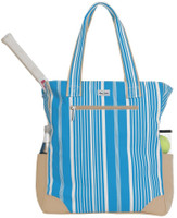 Ame & Lulu Ladies Emerson Tennis Tote Bags - Ticking Stripe