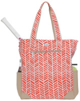 Ame & Lulu Ladies Emerson Tennis Tote Bags - Tango