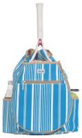Ame & Lulu Ladies Kingsley Tennis Backpacks - Ticking Stripe