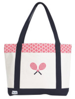 Ame & Lulu Ladies Tennis Lovers Tote Bags - Clover
