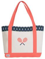 Ame & Lulu Ladies Tennis Lovers Tote Bags - Pineapple