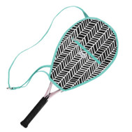 Ame & Lulu Ladies Riley Tennis Racquet Cover - Black Shutters