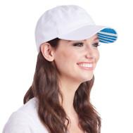 Ame & Lulu Ladies Heads Up Tennis Hats - Ticking Stripe