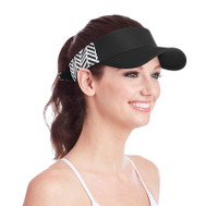 Ame & Lulu Ladies Head in the Game Visors - Black Shutters