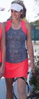 JoFit Ladies & Plus Size Tennis Outfits (Tanks & Skorts) - Daiquiri (Ink Spot/Calypso)