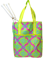 All For Color Ladies Tennis Shoulder Bags - Ready Set Glow (Pink & Lime)