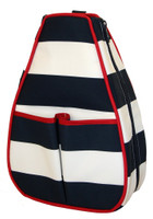 40 Love Courture Ladies Sophi Tennis Backpacks - Sailor Stripe Navy