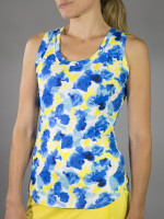 SALE JoFit Ladies Volley Tennis Tank Tops - Limoncello (Phoenix Watercolor)