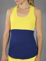 SALE JoFit Ladies Loop Back Tennis Tank Tops - Limoncello (Vibrant Yellow)