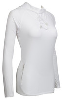 Bette & Court Ladies Hybrid Cool Elements Long Sleeve Pullover Hoodie - White