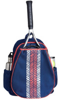 Ame & Lulu Ladies Love All Tennis Backpacks - Pink Shutters