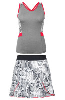 SALE Tail Ladies & Plus Size Tennis Outfits (Tank Tops & Skorts) - Red Hot (Frosted Heather/Boa)