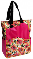 Glove It Ladies Tennis Tote Bags - Sangria (Pink Multi)
