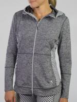 JoFit Ladies & Plus Size Revolution Fitness Jackets - Sangria (Carbon)