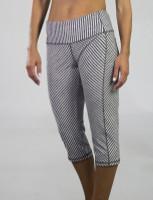 JoFit Ladies & Plus Size Packable Pull On Fitness Capris - Sangria (Carbon)